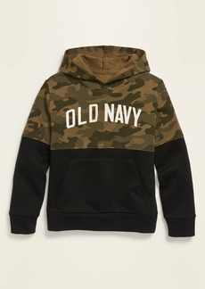 Old Navy Logo-Graphic Color-Blocked Pullover Hoodie for Boys