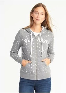 Logo-Graphic Full-Zip Hoodie for Women