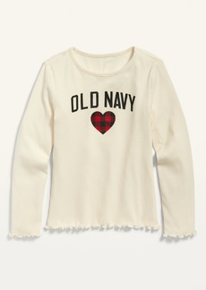 Old Navy Logo-Graphic Long-Sleeve Tee for Girls