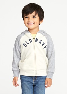 Old Navy Logo-Graphic Raglan-Sleeve Hoodie for Toddler Boys