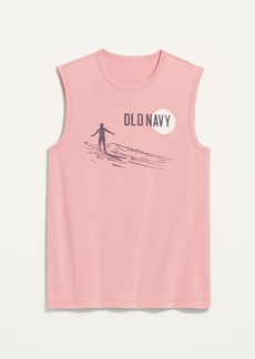 Old Navy Logo-Graphic Sleeveless Muscle Tee for Men