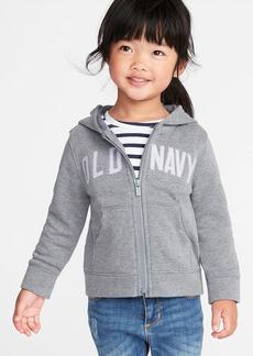 Old Navy Logo-Graphic Zip Hoodie for Toddler Girls