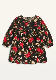 Old Navy Long-Sleeve Floral Lace-Yoke Dress for Baby
