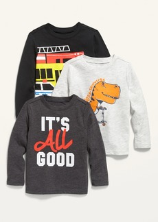 Old Navy Unisex Long-Sleeve Graphic Tee 3-Pack for Toddler