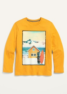 Old Navy Gender-Neutral Long-Sleeve Graphic Tee for Kids