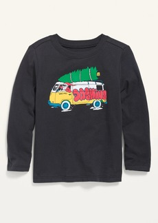 Old Navy Unisex Long-Sleeve Graphic Tee for Toddler