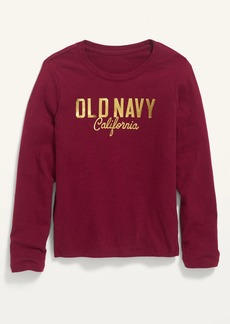 Old Navy Long-Sleeve Logo-Graphic Tee for Girls