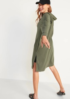 Old Navy Loose Extra-Long French Terry Hoodie for Women
