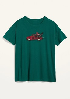 Old Navy Loose-Fit Christmas Graphic Easy Tee for Women