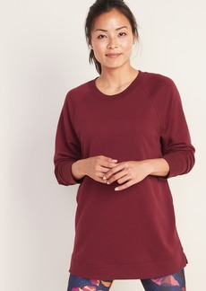 Old Navy Loose-Fit French-Terry Crew-Neck Tunic for Women