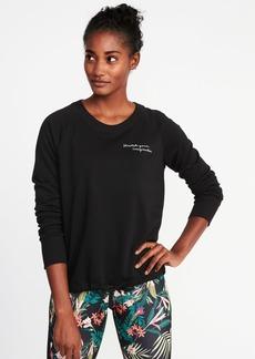Old Navy Loose-Fit Raglan Sweatshirt for Women