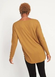 Old Navy Loose Luxe Rib-Knit V-Neck Tunic Tee for Women