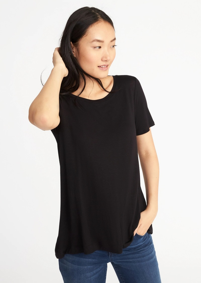 2d57a863ca Old Navy Luxe Boat-Neck Swing Tee for Women | Tees