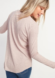 Old Navy Luxe Rib-Knit Long-Sleeve Tee for Women