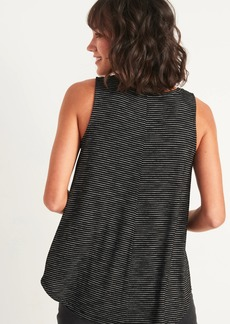 Old Navy Luxe Silver-Metallic Stripe Sleeveless Top for Women