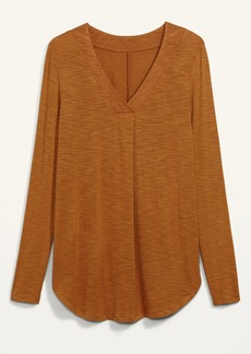 Old Navy Luxe Slub-Knit Long-Sleeve Tunic Tee for Women