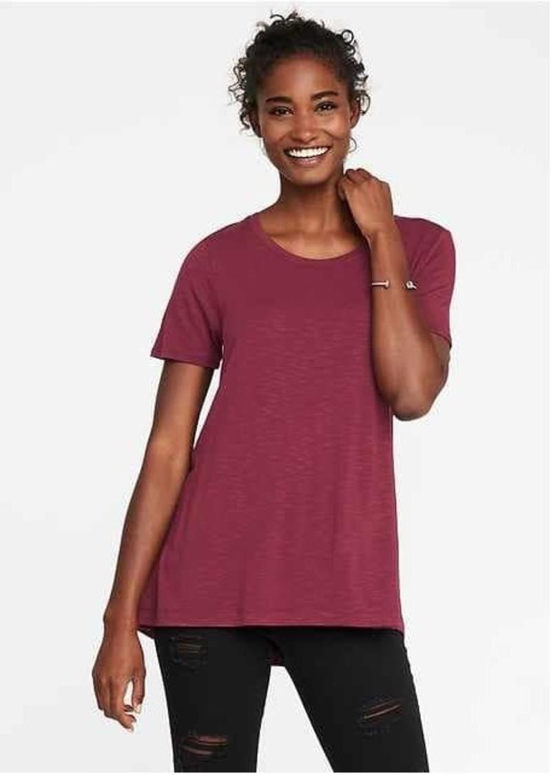 Old navy luxe slub knit swing tee for women tees shop it to me luxe slub knit swing tee for women old navy sciox Images