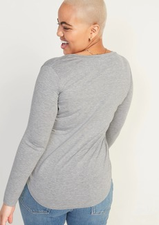 Old Navy Luxe V-Neck Long-Sleeve Tee for Women