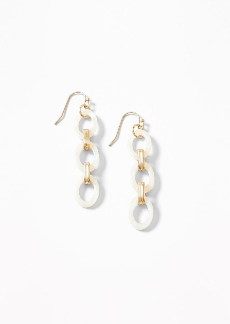 a661040a427a3 Marbled Linear Drop Earrings for Women