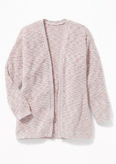 Old Navy Marled Shaker-Stitch Open-Front Sweater for Girls