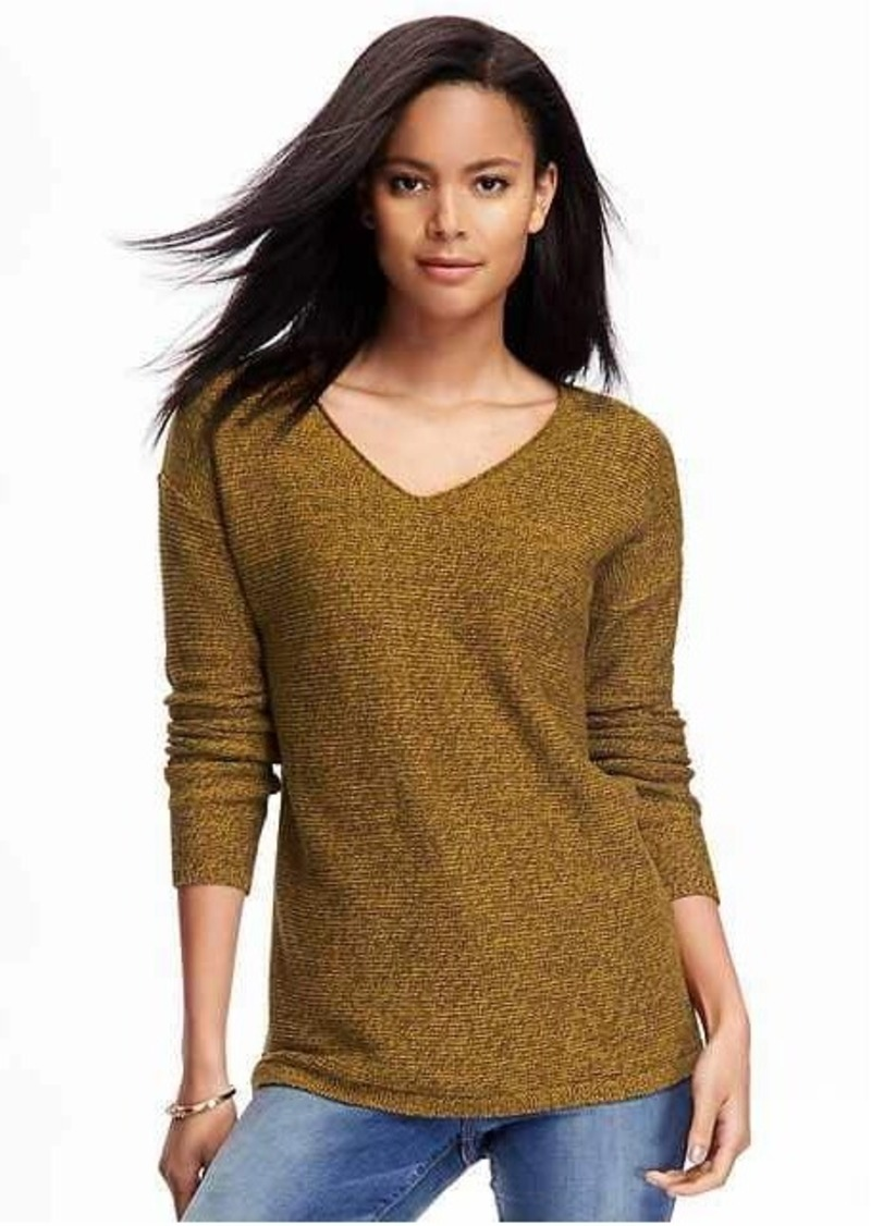 Old Navy Marled V-Neck Tunic Sweater for Women | Sweaters - Shop ...