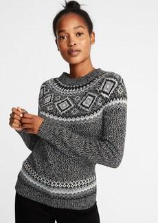 Old Navy Metallic Fair Isle Sweater for Women