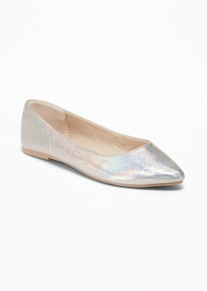 Old Navy Metallic Pointy Ballet Flats
