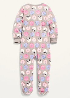 Old Navy Micro Fleece Printed Footie Pajama One-Piece for Toddler & Baby