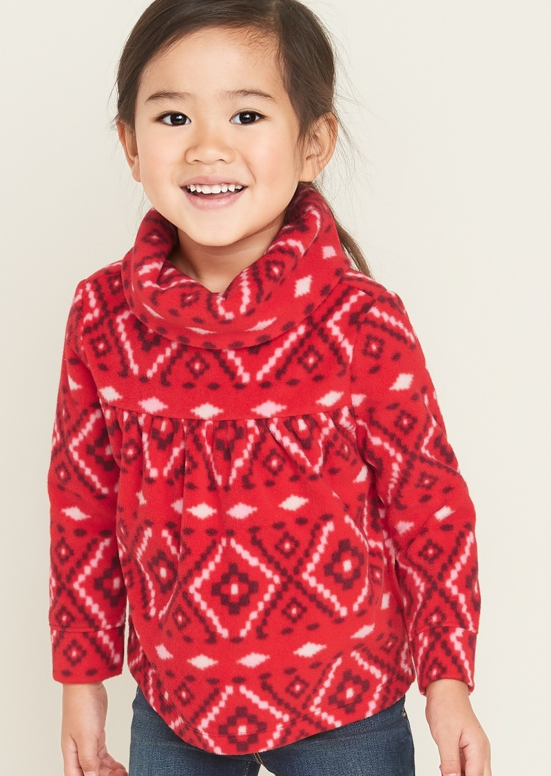 Old Navy Micro Performance Fleece Cowl-Neck Pullover for Toddler Girls