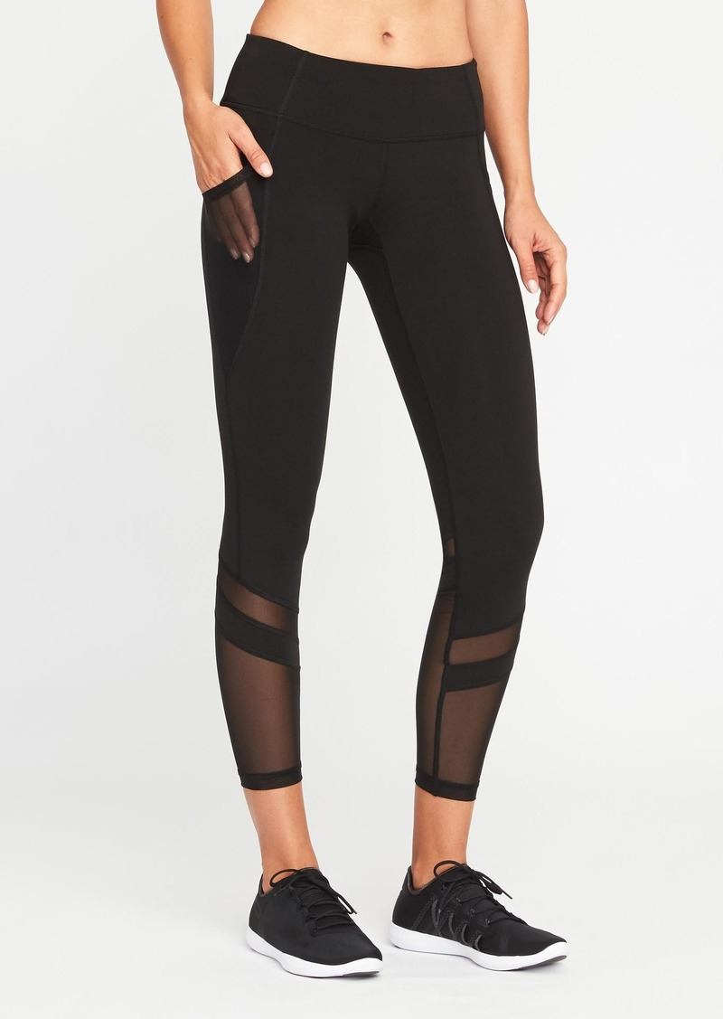 dbe0c36351a86d Old Navy Mid-Rise 7/8-Length Mesh-Panel Elevate Compression Leggings ...