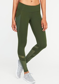 Old Navy Mid-Rise 7/8-Length Mesh-Panel Compression Leggings for Women