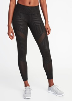 Old Navy Mid-Rise 7/8-Length Mesh-Trim Leggings for Women