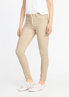 Mid-Rise Beige Super Skinny Rockstar Jeans for Women