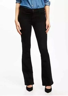 Mid-Rise Built-In Sculpt Black Micro-Flare Jeans for Women