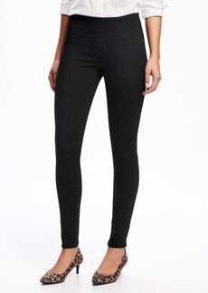 Mid-Rise Black Rockstar Jeggings for Women