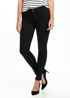 Mid-Rise Black Rockstar Super Skinny Jeans for Women