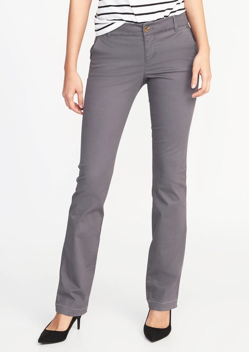 Old Navy Mid Rise Boot Cut Khakis For Women Casual Pants