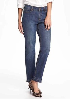 Mid-Rise Boyfriend Straight Ankle Jeans for Women