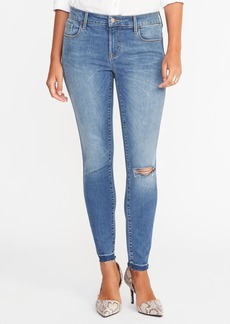 Mid-Rise Built-In Sculpt Rockstar Ankle Jeans for Women