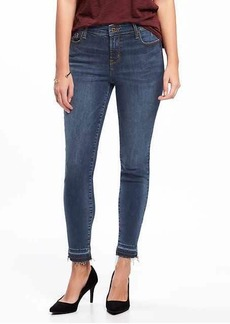 Mid-Rise Built-In Sculpt Rockstar Raw-Hem Ankle Jeans for Women