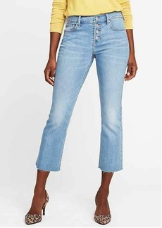 Mid-Rise Button-Fly Flare Ankle Jeans for Women