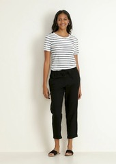 Old Navy Mid-Rise Cropped Linen-Blend Pants for Women