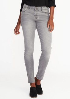 Mid-Rise Curvy Skinny Gray Jeans for Women