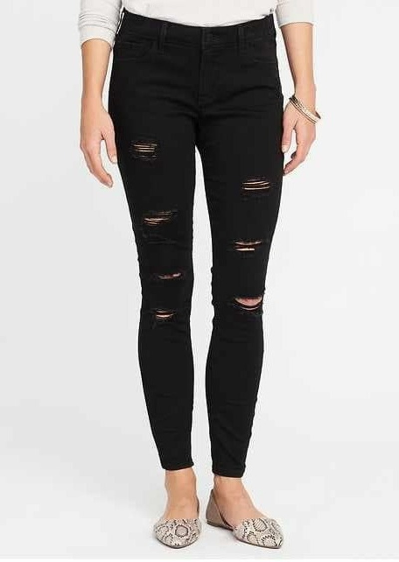 Old Navy Mid-Rise Distressed Rockstar Jeans for Women | Denim - Shop It To Me
