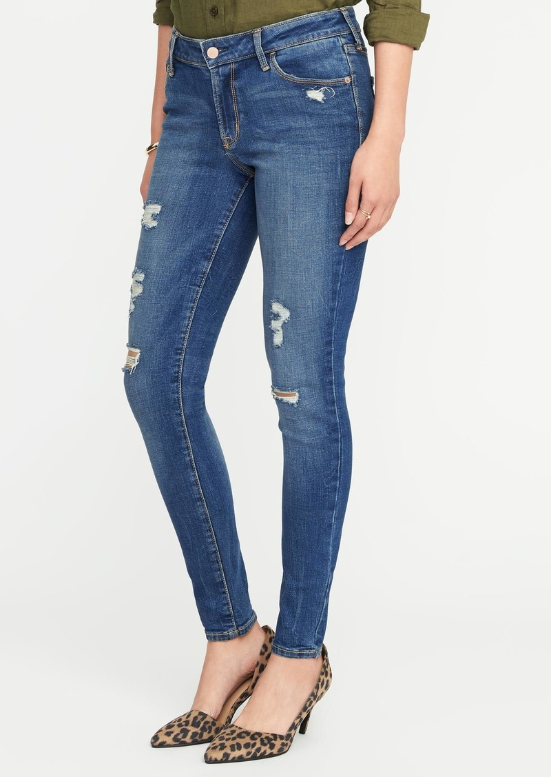f9d04d57018 Old Navy Mid-Rise Distressed Rockstar Super Skinny Jeans for Women
