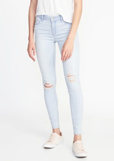 Old Navy Mid-Rise Distressed Super Skinny Rockstar Jeans for Women