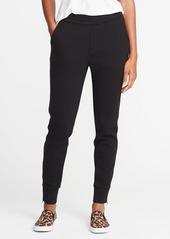 Old Navy Mid-Rise Double-Knit Track Trousers for Women