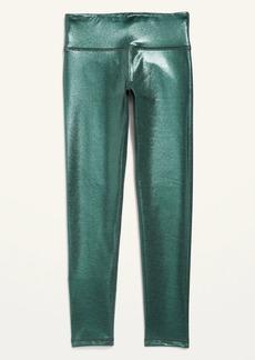 Old Navy Mid-Rise Elevate Go-Dry Shimmer Leggings for Girls