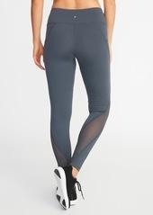 c04693d17ade3 ... Old Navy Mid-Rise Elevate Side-Pocket Mesh-Trim Compression Leggings  for Women