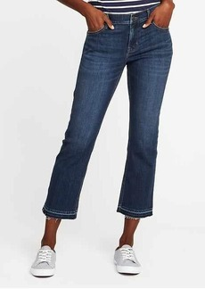 Mid-Rise Flare Ankle Jeans for Women